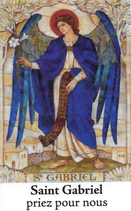Bougie de Neuvaine Saint Gabriel avec effigie et prière