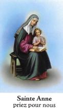 Bougie de Neuvaine Sainte Anne avec effigie et prière