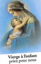 Bougie de Neuvaine Vierge à l'enfant avec effigie et prière