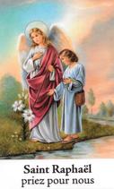 Bougie de Neuvaine Saint Raphaël avec effigie et prière