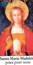 Bougie de Neuvaine Sainte Marie Madeleine avec effigie