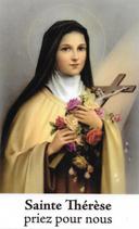 Bougie de Neuvaine Sainte Thérèse avec effigie et prière