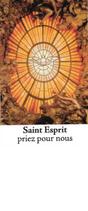 Bougie de Neuvaine Saint Esprit avec effigie