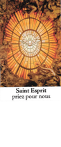 Bougie de Neuvaine Saint Esprit avec effigie et prière