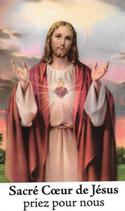 Bougie de Neuvaine Coeur Sacré de Jésus avec effigie et prière