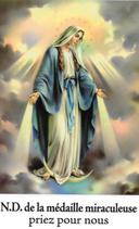 Bougie de Neuvaine Vierge Miraculeuse avec effigie et prière
