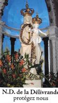 Bougie de Neuvaine Notre dame de Delivrande avec effigie et prière