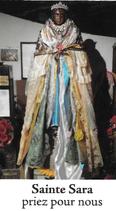 Bougie de Neuvaine Sainte Sara avec effigie et prière
