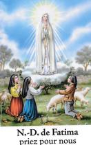 Bougie de Neuvaine Sainte Fatima avec effigie