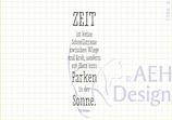 Textstempel  ZEIT IST KEINE SCHNELLSTRASSE