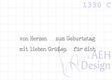 Mini-Stempelset 4X KLEINE GRÜßE