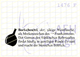 Textstempel DEFINITION BOCKSBEUTEL (limited Edition)
