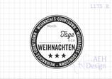 Textstempel WEIHNACHTS-COUNTDOWN
