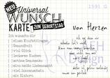 Mini-Stempelset UNIVERSAL-WUNSCHKARTE
