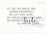 Textstempel OFT GIBT DER ANBLICK