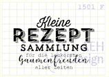 Textstempel KLEINE REZEPTSAMMLUNG