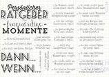 Stempelset RATGEBER FÜR FRAGWÜRDIGE MOMENTE