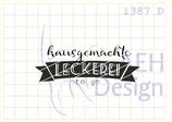 Textstempel HAUSGEMACHTE LECKEREI TO-GO