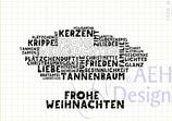 Mini-Stempelset FROHE WEIHNACHTEN