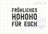 Textstempel FRÖHLICHES HOHOHO