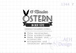 Textstempel 15 MINUTEN OSTERN IN DER TÜTE