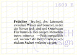 Textstempel DEFINITION FRÜHLING