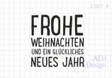 Textstempel FROHE WEIHNACHTEN (quad.)