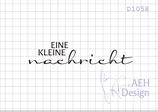 Textstempel EINE KLEINE NACHRICHT