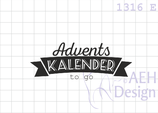 Textstempel ADVENTSKALENDER TO GO