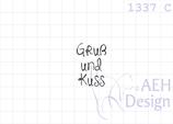 Textstempel GRUß UND KUSS