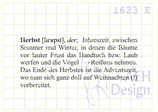 Textstempel DEFINITION HERBST