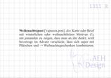 Textstempel  WEIHNACHTSPOST-DEFINITION
