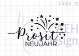 Textstempel PROSIT NEUJAHR
