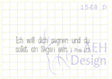 Textstempel  ICH WILL DICH SEGNEN (Limited Edition)