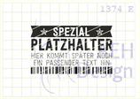 Textstempel SPEZIAL-PLATZHALTER