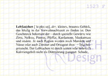 Textstempel DEFINITION LEBKUCHEN