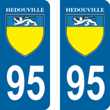 Lot de 2 stickers d' Hédouville