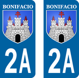 Lot de 2 stickers ville de Bonifacio