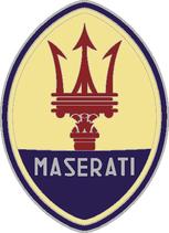 1 sticker ovale Maserati  10 cm de haut