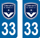 Lot de 2 stickers Girondins de Bordeaux