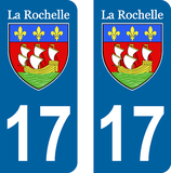 Lot de 2 stickers ville de La Rochelle