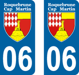Lot de 2 stickers Roquebrune Cap Martin