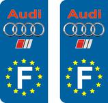 Lot de 2 adhésifs Audi logo sport Europe.