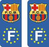 Lot de 2 stickers FC Barcelone Europe