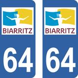 Lot de 2 adhésifs de la Ville de Biarritz