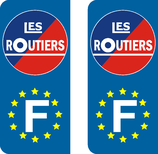 Lot de 2 stickers Les Routiers Europe