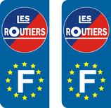 Lot de 2 stickers Les Routiers Europe