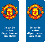 Lot de 2 stickers Manchester United N° au choix