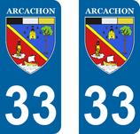 Lot de 2 stickers Blason de la ville d'Arcachon