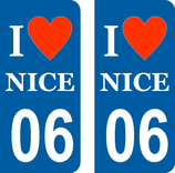Lot de 2 stickers I love Nice ...